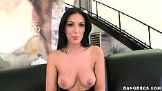 Amber Cox and her big tits with pierced nipples will rock your world!