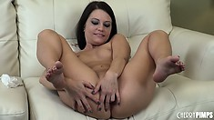 Brandi Belle loves fingering her pussy and using sex toys for pleasure