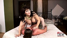 The wild babe Klenot bounces on that cock until her desires are completely satisfied