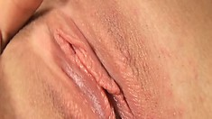 Sweet young Honey has a nice wet pussy that she likes to play with