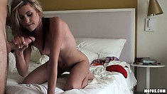 The beauty tastes that cock before inviting it to explore every corner of her ass