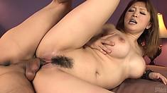 Unbelievably busty Japanese slut Yuki Touma takes it too deep