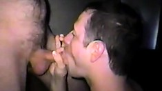 He strips off Bruno Barz's shorts to suck his cock and lick his ass