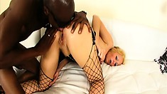 Sara Jay is a hot blonde with a great ass made for black cocks