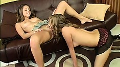 Pretty college girls have their first lesbian experience and enjoy intense pleasure