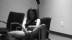 Filthy chick is caught on camera fingering her tight wet pussy