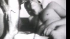 Black and white video featuring muscular hunks enjoying anal loving
