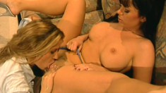 Nasty chick likes poking her sweet love-mate's soaked coochie
