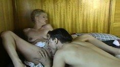 A sexy blonde and her hung boyfriend make hard and passionate love