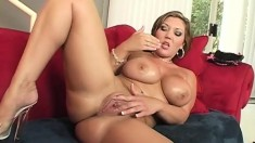 Stunning babe with massive titties gets her brains screwed out