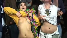 It Is Mardi Gras, Time For Chicks To Flash Their Tits And Earn Beads