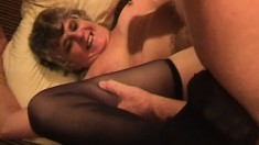 This nursing home couple get busy on the bed while the camera rolls