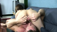 Nasty Japanese babe with pigtails Ibuki Harushi gets banged in the ass