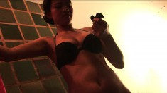 Asian housewife gets caught on camera while taking a sweet shower