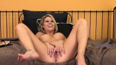 Sweet, fuckable babe Charisma Cappelli poses with legs spread wide