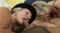 Insatiable old ladies Gerta, Milla and Barbara getting pounded rough