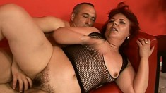 Redhead mature can't get enough of a throbbing pole drilling her cunt