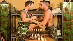 Handsome gay military studs enjoying lots of sucking and anal fucking