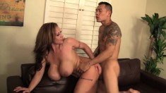 Curvaceous Milf Eva Notty Has A Tattooed Stud Pounding Her Wet Pussy