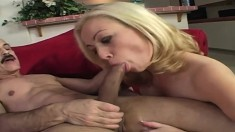 Juicy blonde Adrianna Nicole takes Dirty Harry's thick schlong in her gaping ass