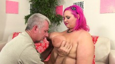 Pink Haired Plumper Sara Gets Her Tight Snatch Stuffed With Hard Meat