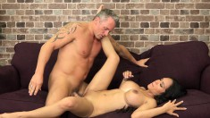 Stacked Brunette Beauty Expresses Her Love For Hard Meat And Warm Cum
