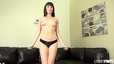 Dropping her sexy outfit, hot brunette Dana DeArmond reveals her superb tits and ass