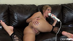 Phoenix Marie goes full on freaky filling up all of her holes