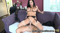 Sienna rides that dick with fervor and joy on her way to drive her cunt to climax