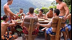 This tropical paradise is filled with handsome and muscular men