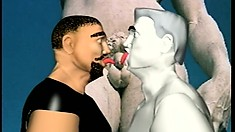 Animated gay stallions give into temptation and fuck like crazy