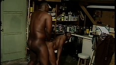 Deep in the back room these black gays are going at it good and hard.