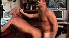 Two horny gay men get together and bring their sexual desires to fruition