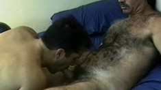 John Nagel and Anthony Demarco exchange blowjobs and then fuck hard