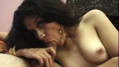 Indian belly dancer is a great cocksucker and she loves to fuck
