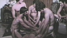It's a huge vintage fuckfest for a group of naughty male lovers
