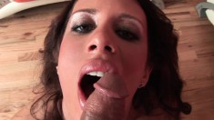 Mya Nichole is one hot cock sucking bitch you want on the end of your prick in POV