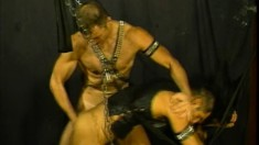 A little BDSM with the master making his slave suck and bend over to fuck