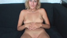 Violet is a naughty girl who takes her clothes off and gives head