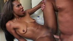 Brazilla goes to an appointment for white dick loving and ass fucking