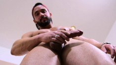 Delightful Stud Loses His Clothes And Drives His Hard Prick To Orgasm