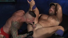Dude Shoves A Big Dildo Up His Ass And Then A Fist Showing Puckered Butthole