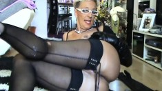 Hot sexy blonde in lingerie