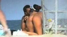 Reality sex scene on the beach