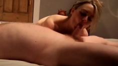 32yo British Ex-gf Sucks Cock Gags & Deepthroats For Cim
