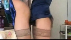 Euro Milf In Stockings Strapon Fucked By Busty Blonde