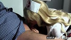 Traumhafte Krankenschwester Blaest Ihn Gesund