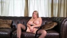 Horny Fat BBW Ex Girlfriend fucking in stockings P 2
